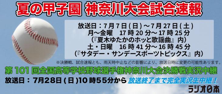 夏の甲子園 神奈川大会試合速報